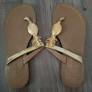 GUC LFT pineapple sandals